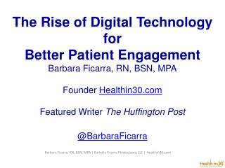 Is Digital Technology changing the Landscape in Health Care?