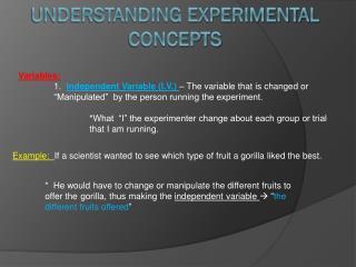 Understanding Experimental Concepts