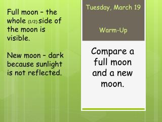 Tuesday, March 19 Warm-Up
