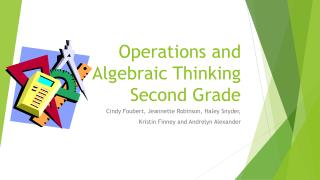 Operations and Algebraic Thinking Second Grade