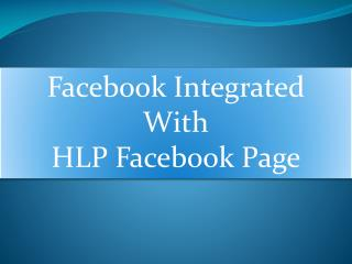 Facebook Integrated With HLP Facebook Page