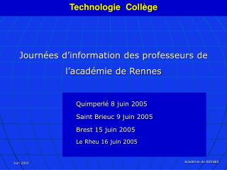 Technologie  Coll ge