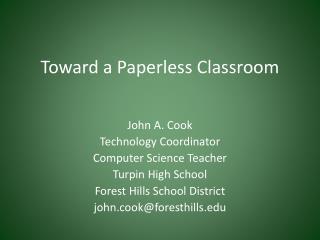 Toward a Paperless Classroom