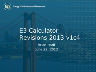 E3 Calculator Revisions 2013  v1c4