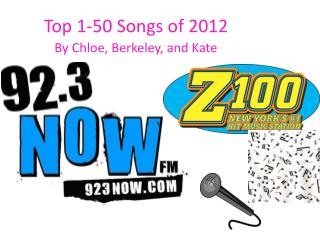 Top 1-50 Songs of 2012