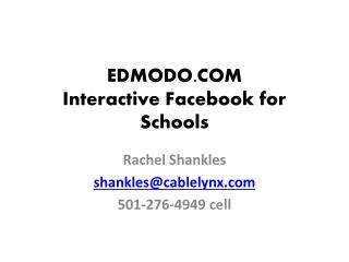 EDMODO.COM Interactive Facebook for Schools