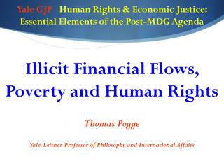 Yale GJP    Human  Rights & Economic Justice: Essential Elements of the Post-MDG Agenda