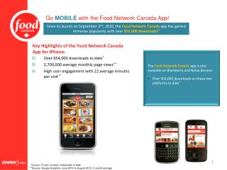 Go  MOBILE  with the Food Network Canada App!