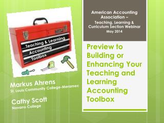 Preview to Building or Enhancing Your Teaching and Learning Accounting Toolbox
