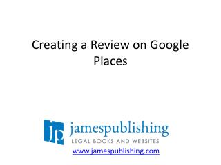 Creating a Review on Google Places
