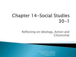 Chapter 14-Social Studies 30-1