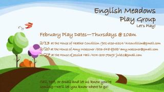 English Meadows Play Group  Let's Play!