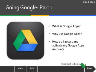 Going Google: Part 1