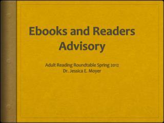 Ebooks  and Readers Advisory