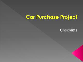 Car Purchase Project