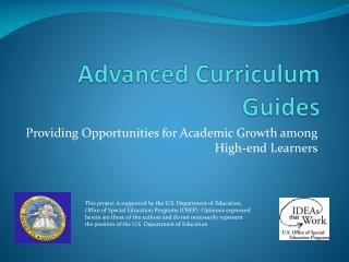 Advanced Curriculum Guides