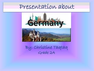 Presentation about