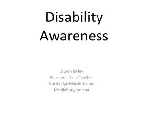 Disability Awareness