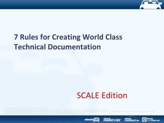 7  Rules for Creating World Class Technical Documentation