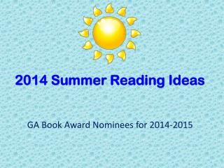 2014 Summer Reading Ideas
