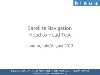 Satellite Navigation Head to Head Test
