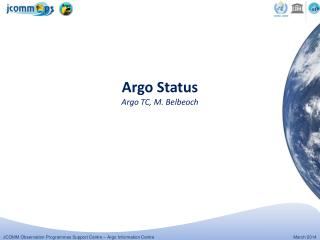 Argo Status Argo TC, M. Belbeoch