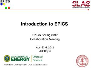 Introduction to EPICS