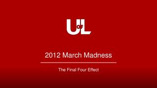 2012 March Madness