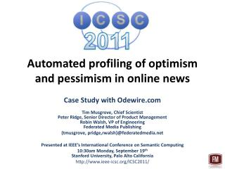 Automated profiling of optimism and pessimism in online news