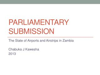 PARLIAMENTARY Submission