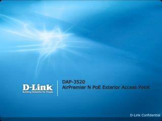 DAP-3520 AirPremier N PoE Exterior Access Point