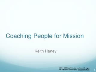 Coaching People for Mission