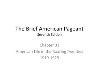 The Brief American Pageant Seventh Edition