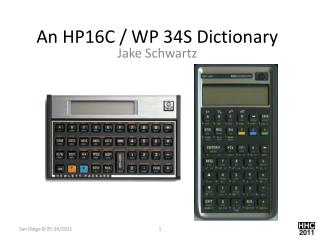An HP16C / WP 34S Dictionary