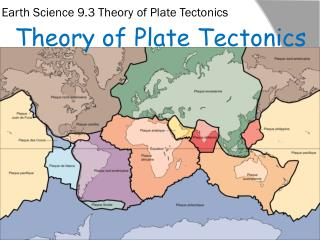 Earth Science 9.3 Theory  of Plate Tectonics