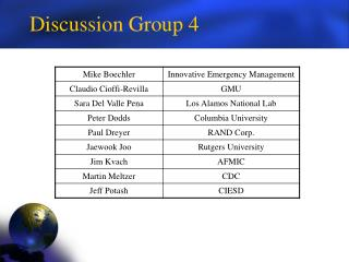 Discussion Group 4