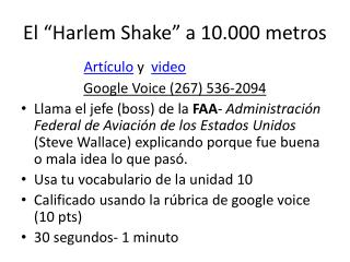 "El ""Harlem  Shake "" a 10.000 metros"