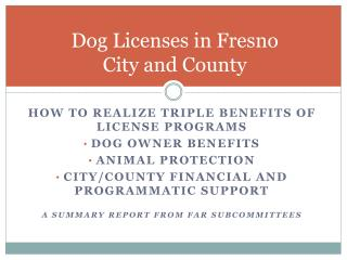 Dog Licenses in Fresno  City and County