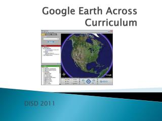 Google Earth Across Curriculum