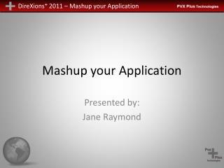 Mashup your Application