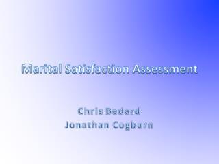 Marital Satisfaction Assessment