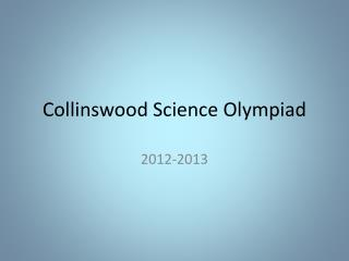 Collinswood  Science Olympiad