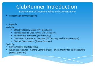ClubRunner  Introduction