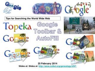 Google Toolbar & AutoFill