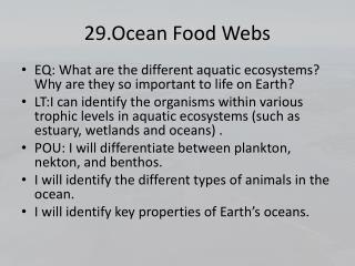 29.Ocean Food Webs