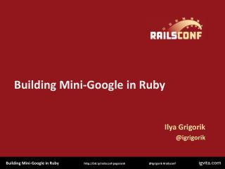 Building Mini-Google in Ruby