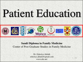 Saudi Diploma in Family Medicine Center of Post Graduate Studies  i n F amily  M edicine