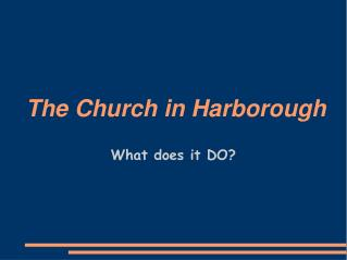 The Church in Harborough