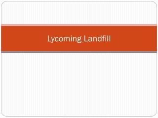 Lycoming Landfill
