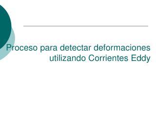 Proceso para detectar deformaciones utilizando Corrientes Eddy